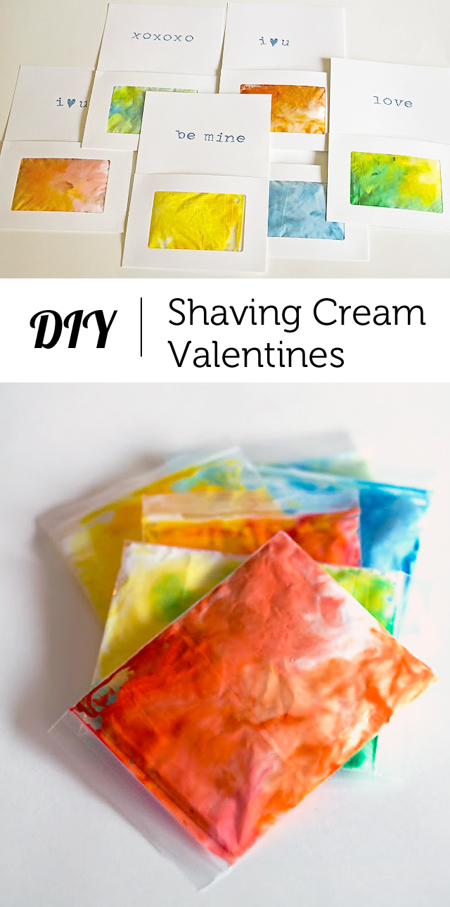 "An interactive sensory Valentine that allows kids to ""draw"" on pretty shaving cream art... This was a huge hit at our preschool!"