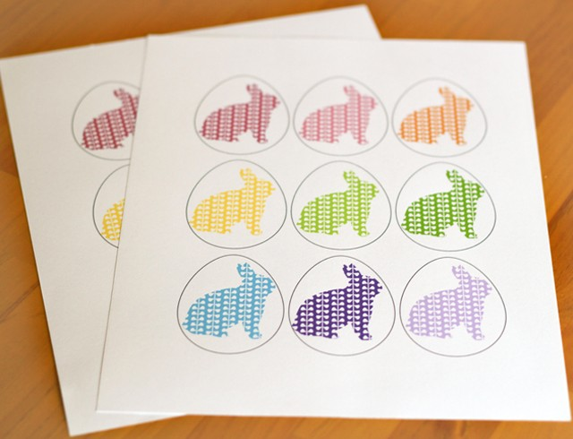 Free printable: a simple and sweet Easter memory game for the kids' baskets