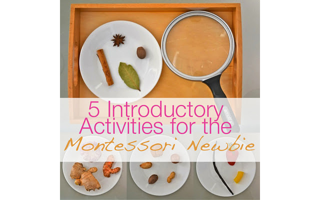 Montessori activities to do with the kids at home - part of a great 4 part series!