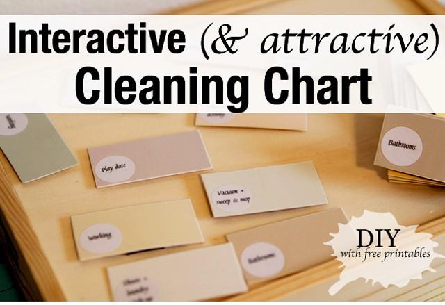 DIY weekly or bi-weekly cleaning chart