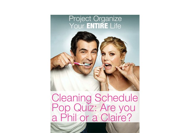 Cleaning Schedule Pop Quiz