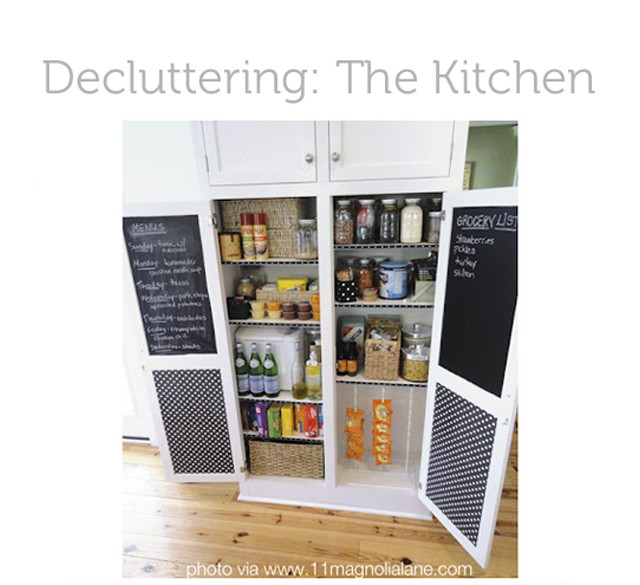 Tons of ideas for decluttering the kitchen