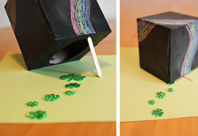 A leprechaun trap kids can redesign each day - such a great way to get them thinking!