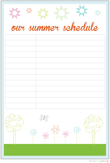 How to set up a mindful summer schedule with your kids