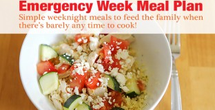 A week of dinners for busy families