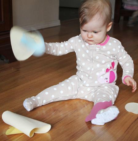 Super simple DIY felt toy for baby's Easter Basket
