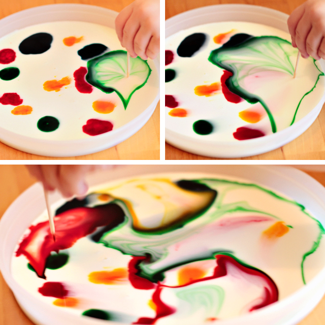 Milk Painting With Food Coloring