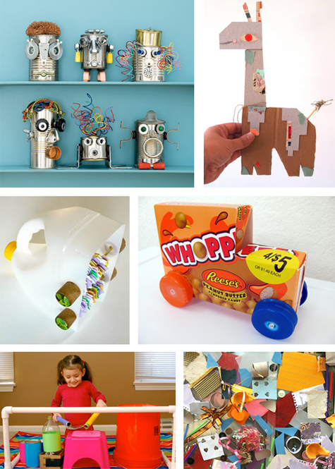 Trash diet top 10 recycled art and toy projects modern for Waste material art for kids
