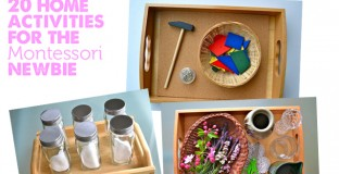 Love these simple ideas for home Montessori activities covering shapes, senses, plants & animals.