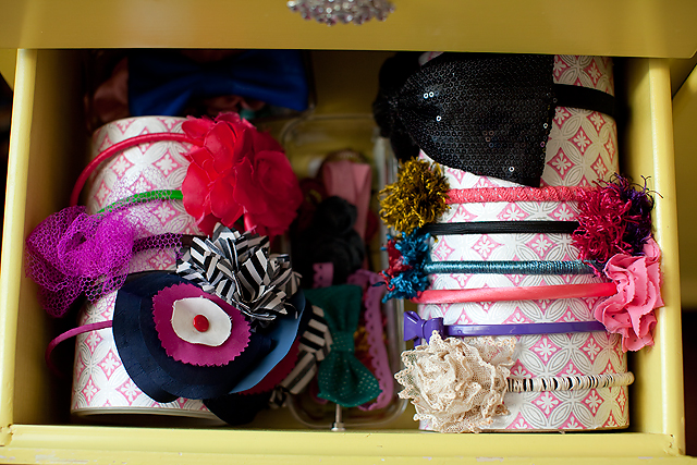 a simple DIY for keeping hair accessories organized