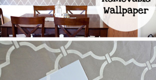 DIY removable wallpaper - great for renters or anyone who doesn't want to spend hours removing wallpaper down the road!