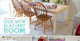 How to use your formal dining room as an art center for your kids
