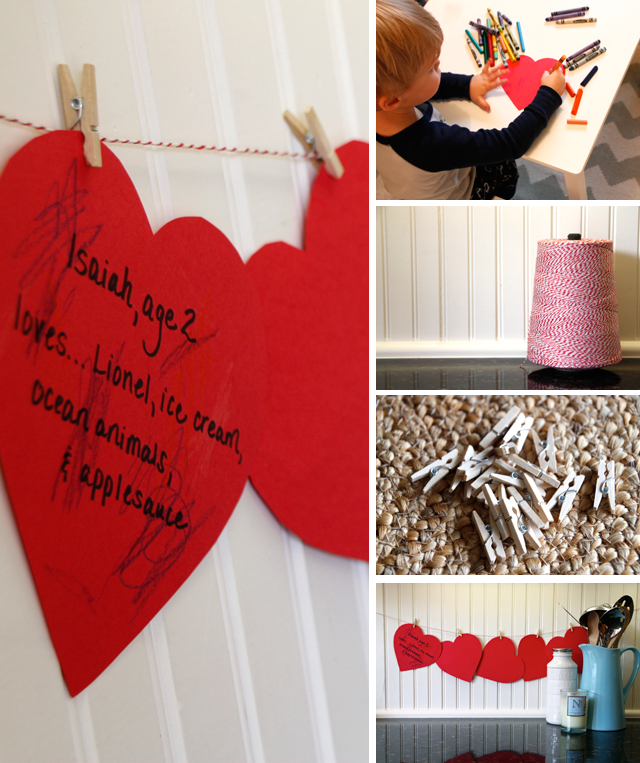 Valentine Keepsake: Simple Memory Garland - Modern Parents Messy Kids