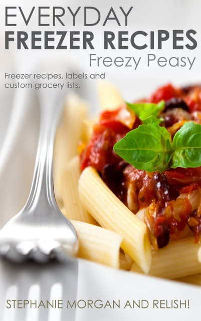 Freezer Cooking eBook - this method of making the meals with my kids on the weekend and then heating and serving on weeknights has saved dinnertime for our family!