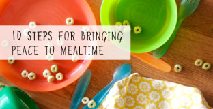 10 steps to easier and more peaceful family meals