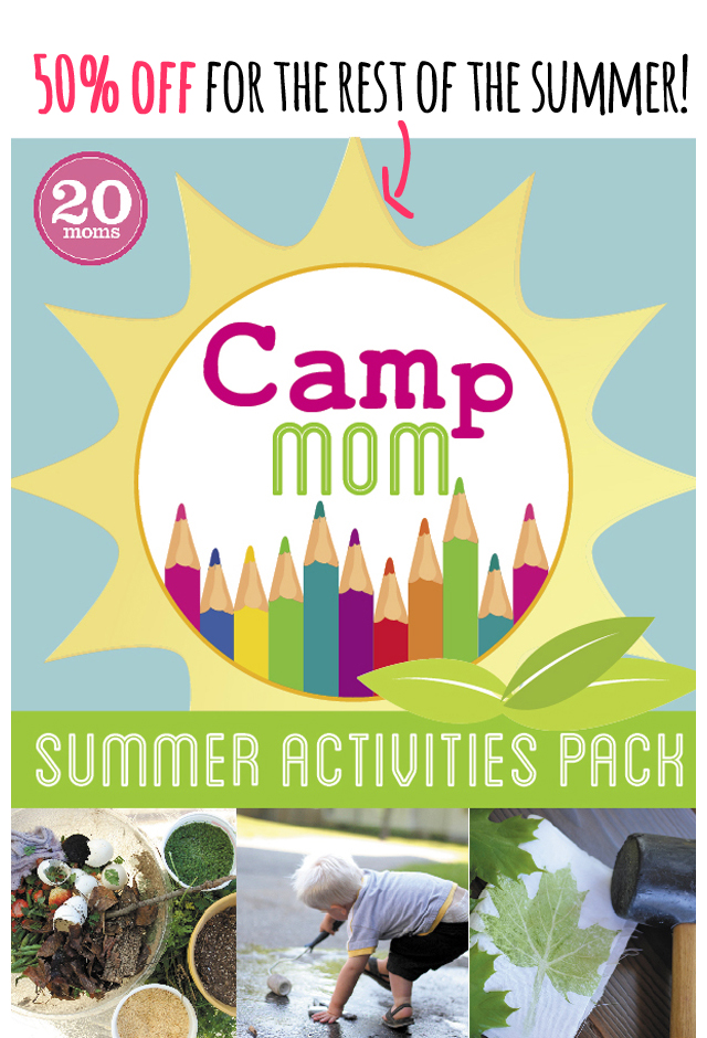 Camp Mom: Summer Activities Pack - an 84 page PDF download put together by the best playtime bloggers around.  With 84 pages of summer activities, adventure ideas, and reading lists - you and the kids will never be bored.