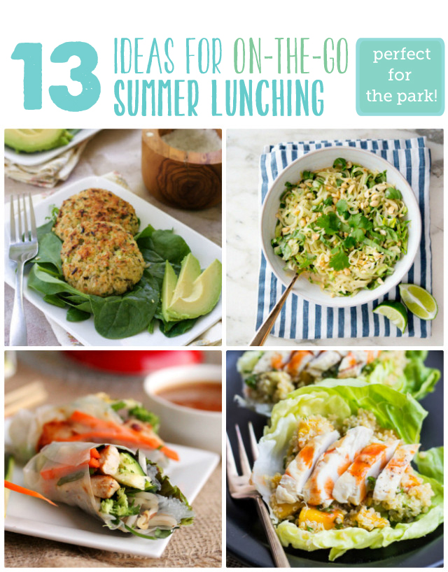 Great list for lunches to bring to the park - hooray for no moe PB & J!