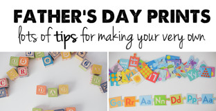 How to make a custom Father's Day photo print - be sure to read the whole post, there are some super clever ideas!