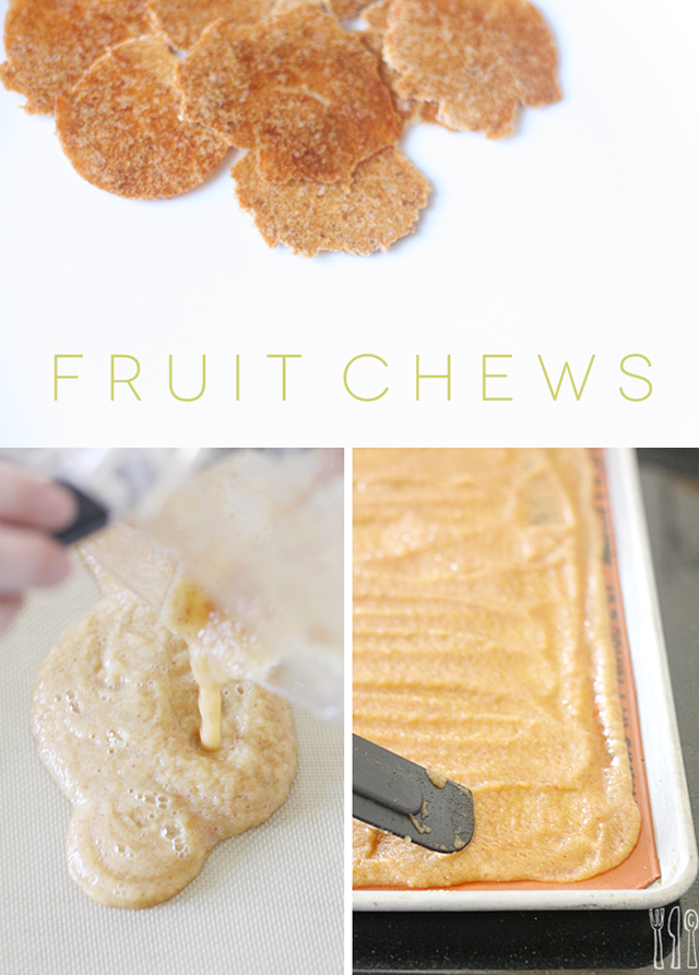 Homemade fruit chews only take 2 ingredients - healthy and the kids love 'em!