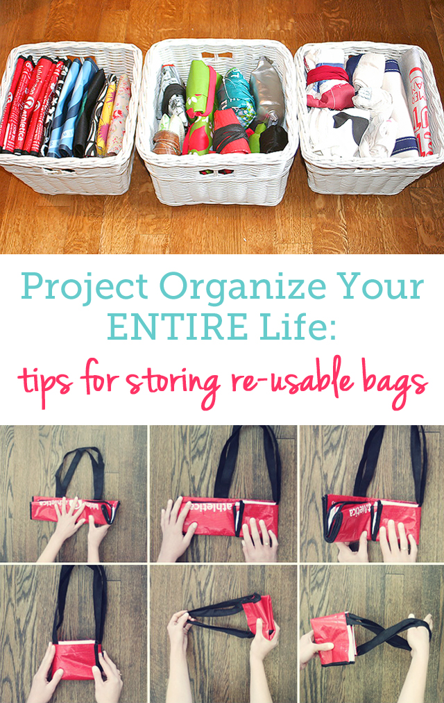 great tips for neatly storing all my re-usable bags