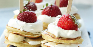 Simple 4th of July breakfast - great tips on how to make ahead for a party or turn it into a dessert.