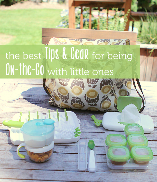tons of tips and product finds for getting out with young kids