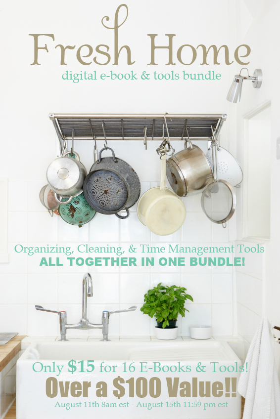 Love this for getting organized for back to school - 16 organization and cleaning ebooks valued at over $100, all for only $15