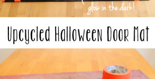 Such a great way to use your grubby old door mat this Halloween