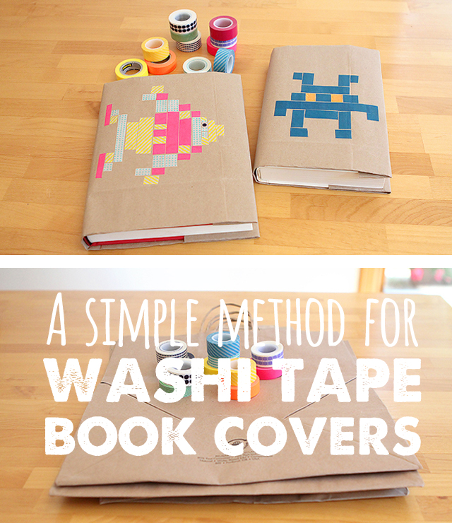 Cool Book Covers For School : Back to school diy washi tape book covers modern