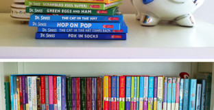 great tips on how to organize (and when to get rid off) kid books