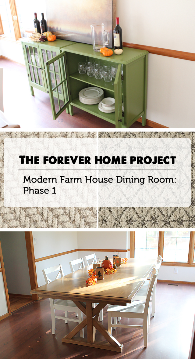 "Budget finds for creating a ""farm house modern"" dining room"