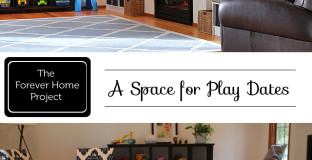 "Ideas and tips on creating a space for kids to play and moms to connect - part of ""The Forever Home"" series"