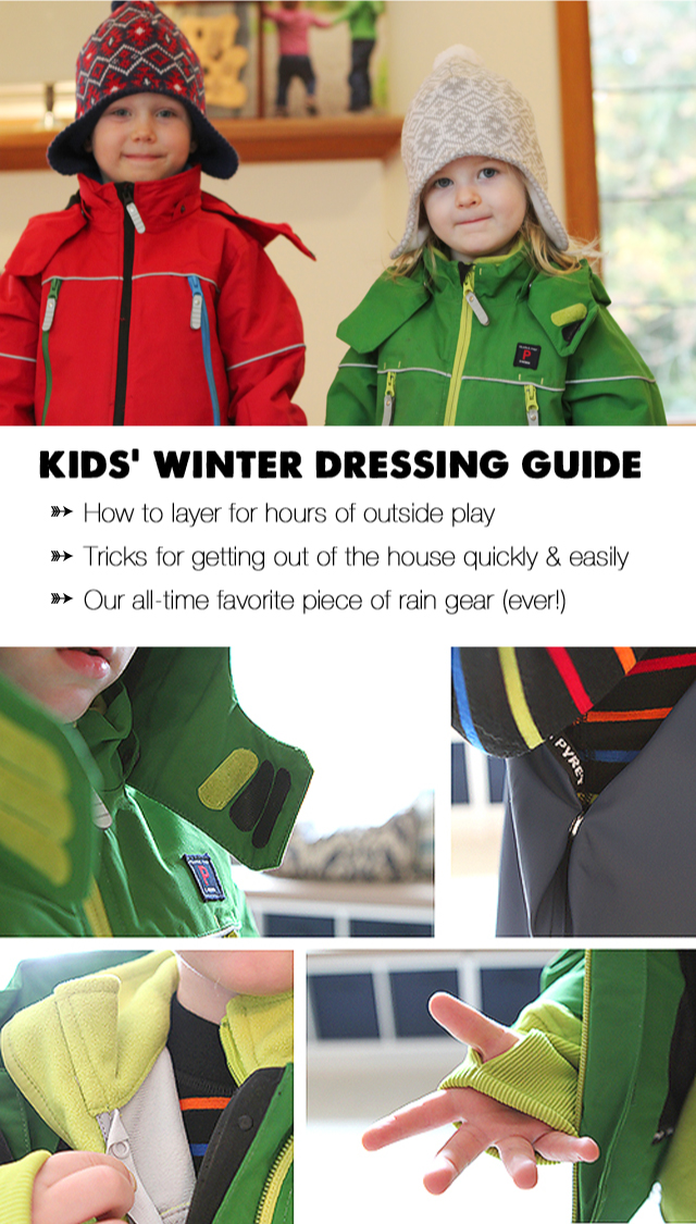 Pin, bookmark, etc. to save for future reference - tons of great info. here on the best types of clothes to keep kids warm as well as great tips on how to quickly and easily get suited up and out of the house without whining or nagging!
