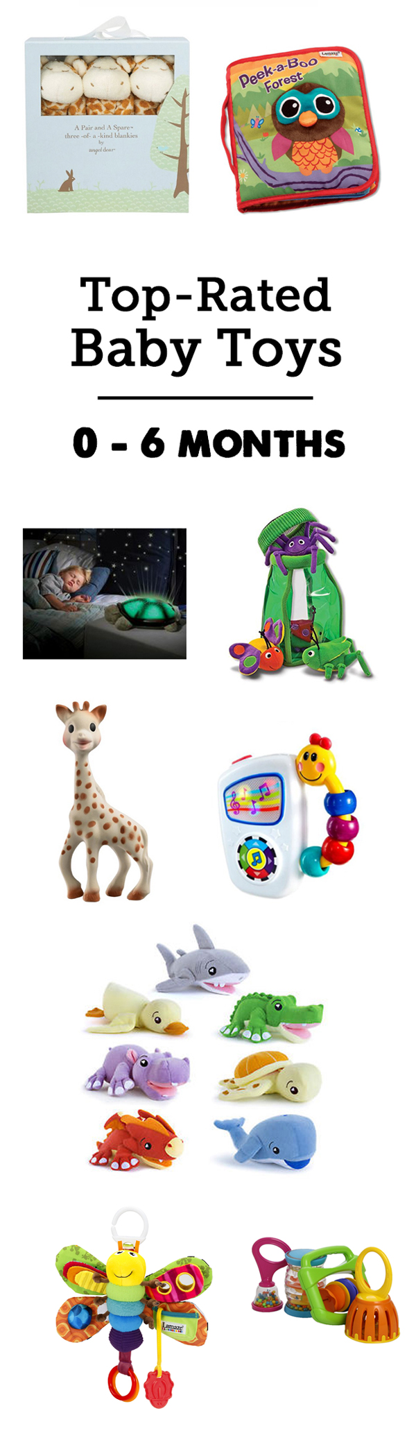 Best developmental toys for babies & young toddlers - great list for that tricky 0 - 6 month age range. Such a great guide! Lots of detailed descriptions and all of our favorites are covered! Bookmarking for anytime someone has a baby and I need the perfect gift.