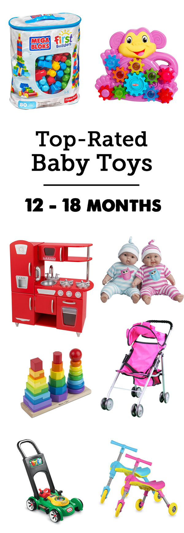 MPMK Toy Gift Guide: Best toys for babies & best toys for young toddlers 12 months to 18 months - part of a great list for that tricky 0 - 24 month age range with super helpful descriptions.
