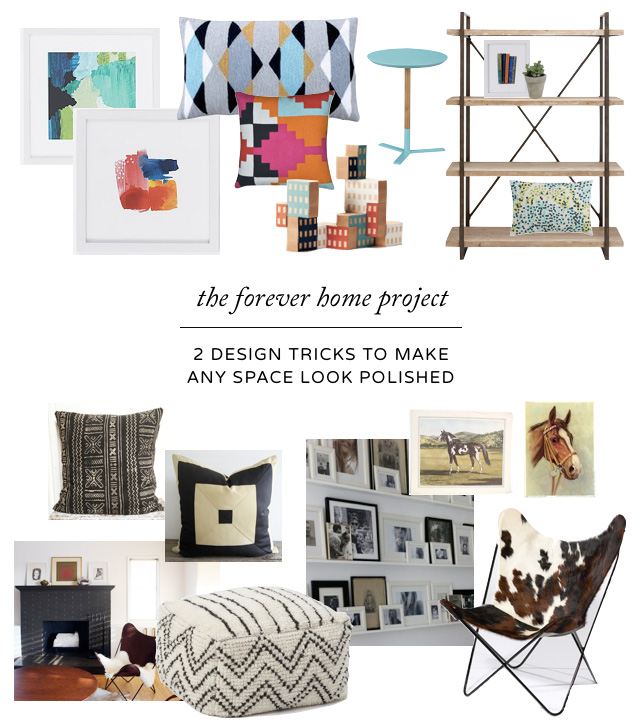 A professional designer's two favorite tricks for making any room look cohesive and finished.