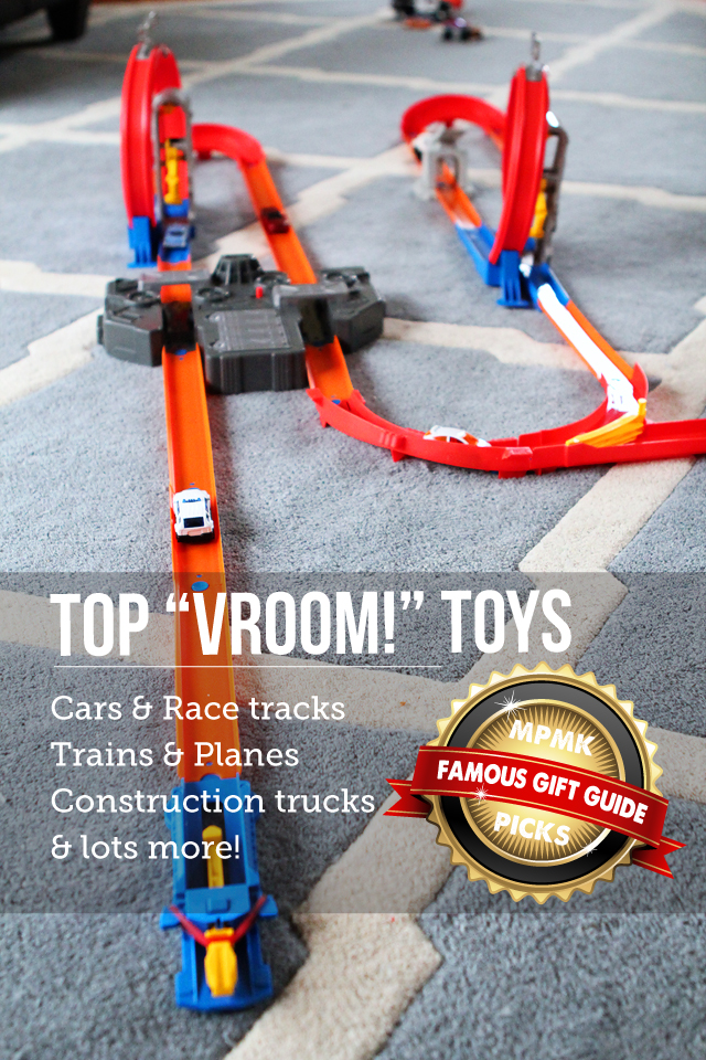 MPMK Toy Gift Guide: Best toy trucks, best toy cars, best train tables and more - Part of 15 awesome gift guides with tons of info. and age recommendations for each pick.