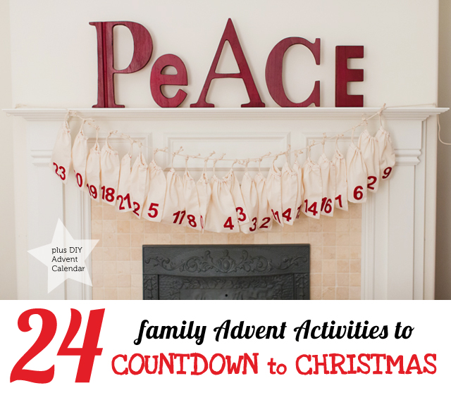 24 Advent activities for families to do together plus a modern DIY Advent calendar easy to make with kids of all ages
