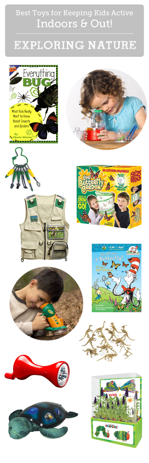 Great finds for getting kids interested in going outside and exploring.