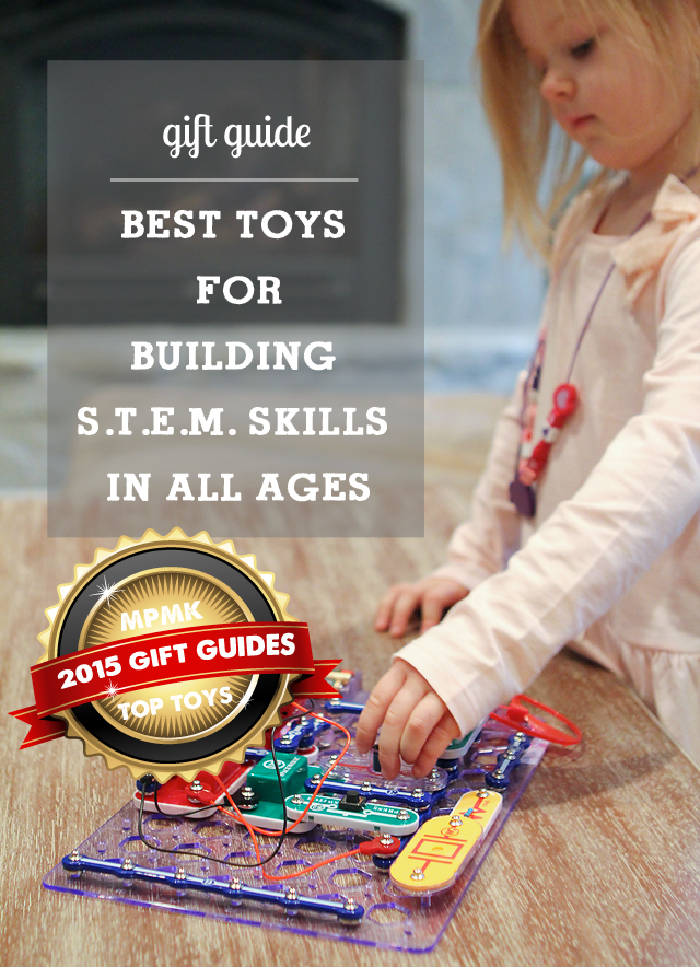 Best toys for building STEM (science, technology, engineering & math) skills - love the range of ages covered here.