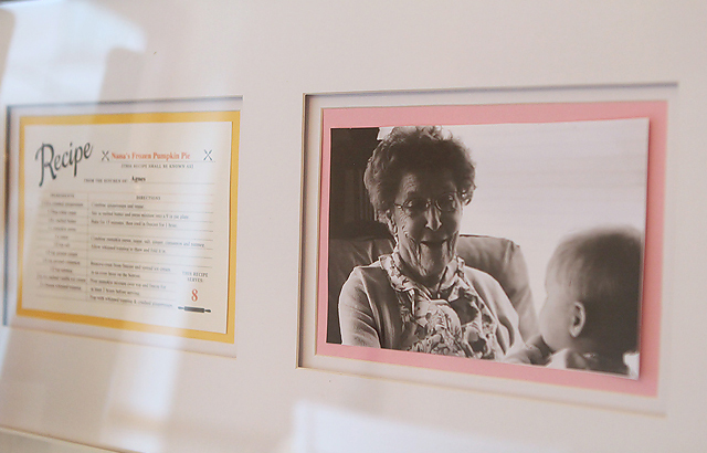 must make for Christmas - framed photo of grandma with her trademark recipe