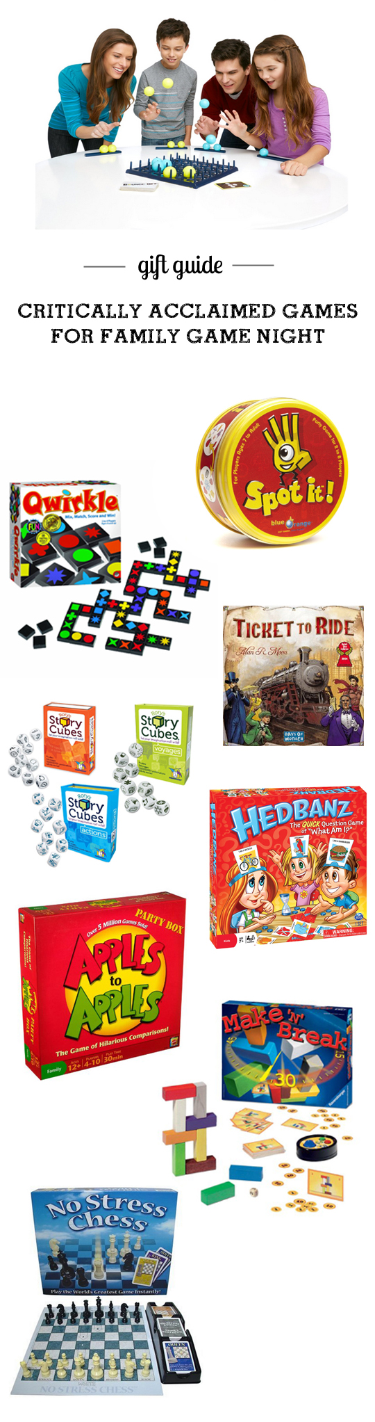 Gift guide: best games kid and family game night - part of 10 super helpful toy guides with detailed descriptions and age recs.