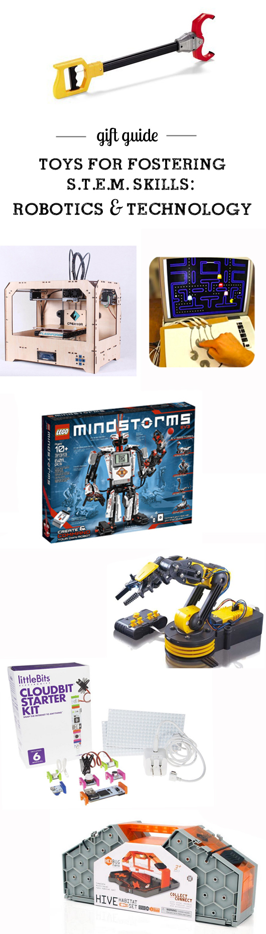 Top toys for building S.T.E.M. (Science, Technology, Engineering & Math) Skills: Robotics & Tech - detailed info. including appropriate age ranges - awesome resource!