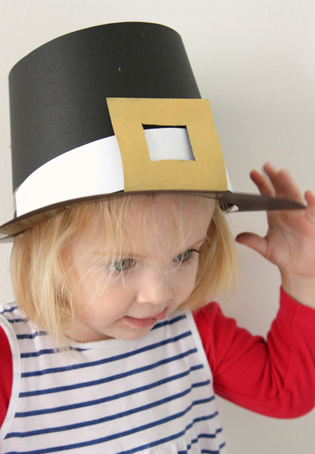 thanksgiving day craft diy pilgrim hats modern parents