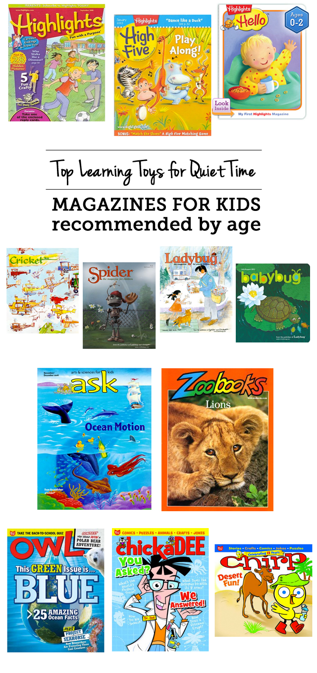 The kids magazines for quiet time or special time - great ideas so mom can get stuff done or spend some one on one time with a sibling. My toddler and preschooler absolutely love getting their magazines in the mail and they're great for both bonding time and quiet time.
