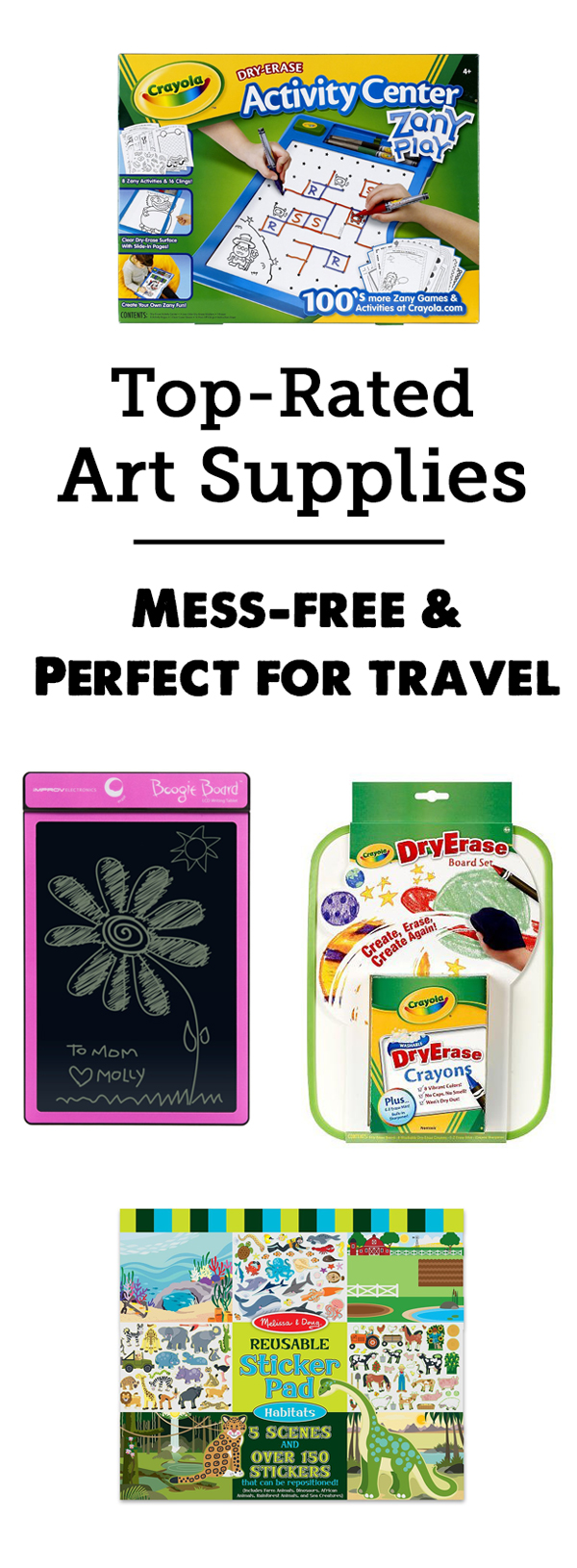 Best Travel Art Supplies and Mess-free Art for Kids - So many cool and interesting picks here, love the age recommendations and detailed reviews.