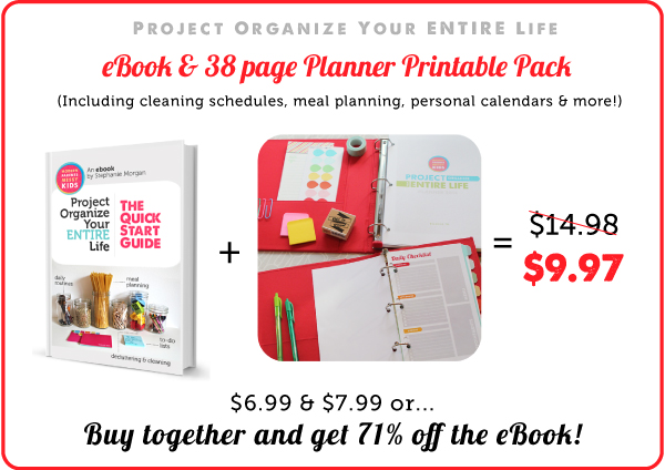 Project Organize Your ENTIRE Life eBook & 2014 Printables Pack