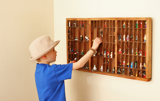 how to display kids' collections