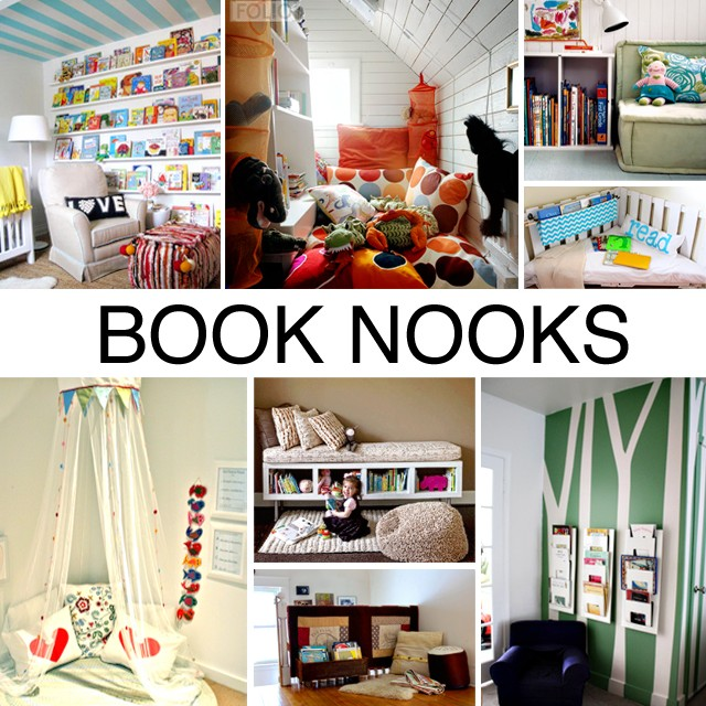 book nooks, reading nooks, reading chairs, how to set up a book nook