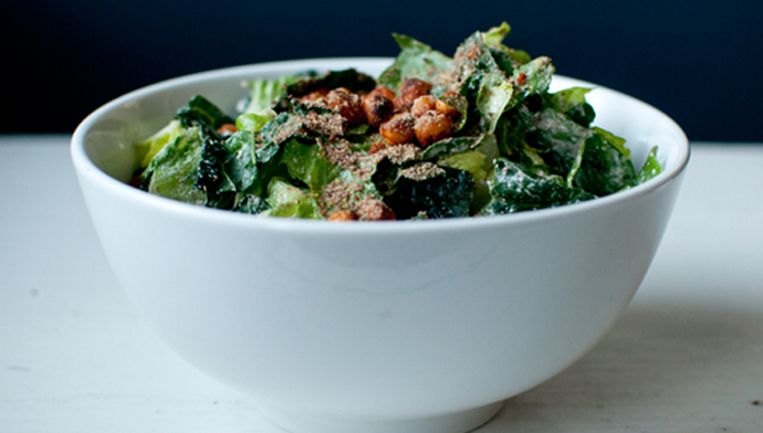 Kale Caesar Salad - Part of a 5 Step plan to kick start your diet in 2014.